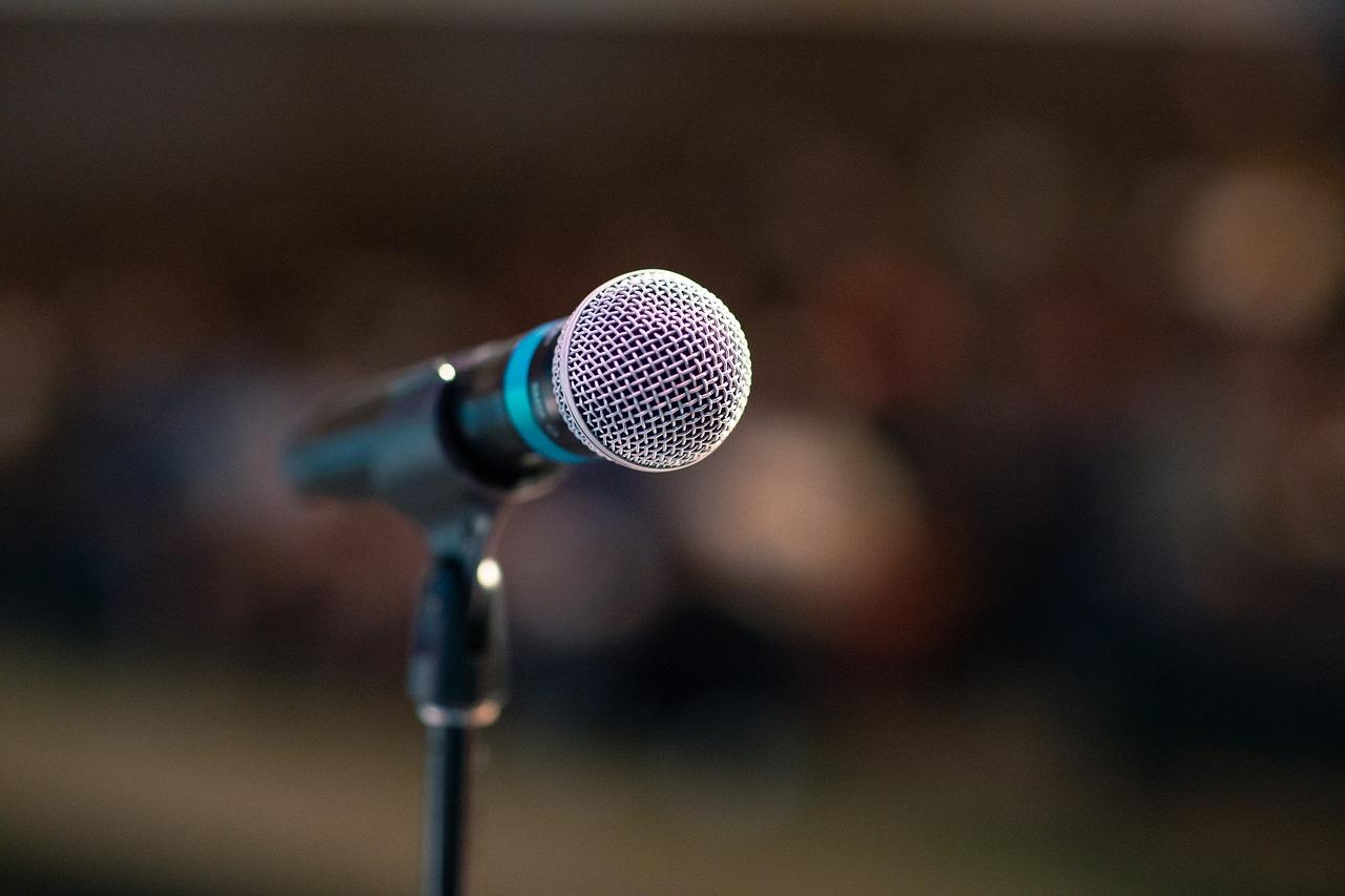 Public Speaking Microphone Image