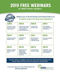 2019 Premier Webinar Calendar